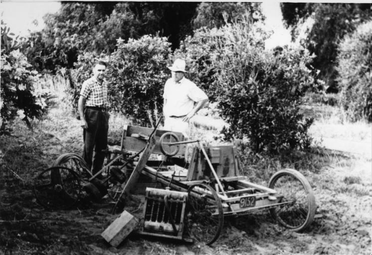 Standing by an unrestored Jigger, c.1960.