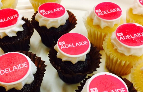 891 ABC tweeted Radio Adelaide-branded cupcakes in January.