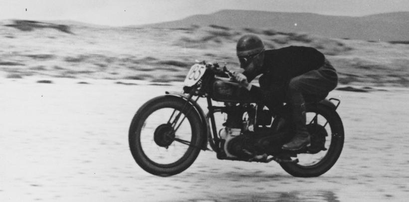 Vintage motorbike on Sellicks Beach