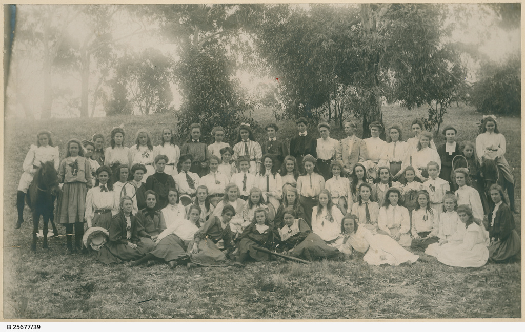 Group photograph of the last students and staff of the Advanced School for Girls, c. 1910. Image courtesy of the State Library of South Australia SLSA: B 25677/39