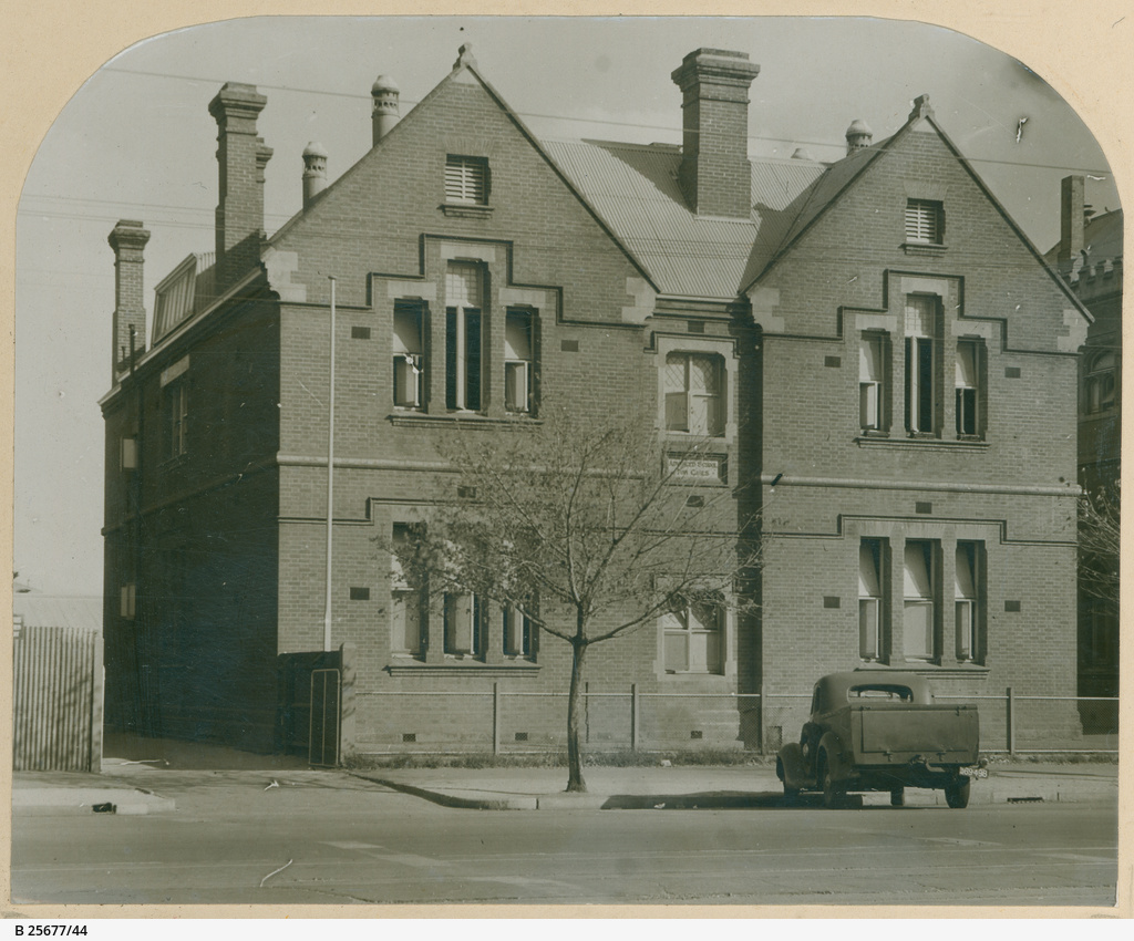 View of building which housed the Advanced School for Girls, c. 1930. Image courtesy of the State Library of South Australia SLSA: B 25677/44,