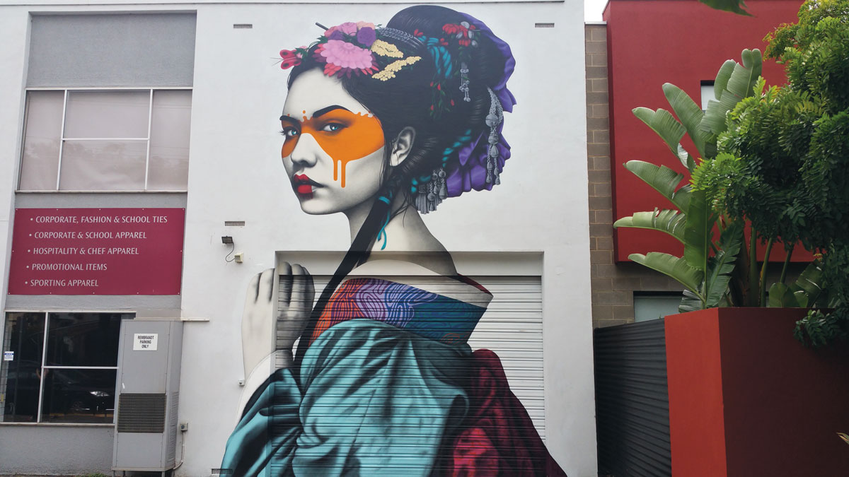Artist: Fin DAC/Photo: Colourourcity. Location: Little Rundle Street, Kent Town, Adelaide