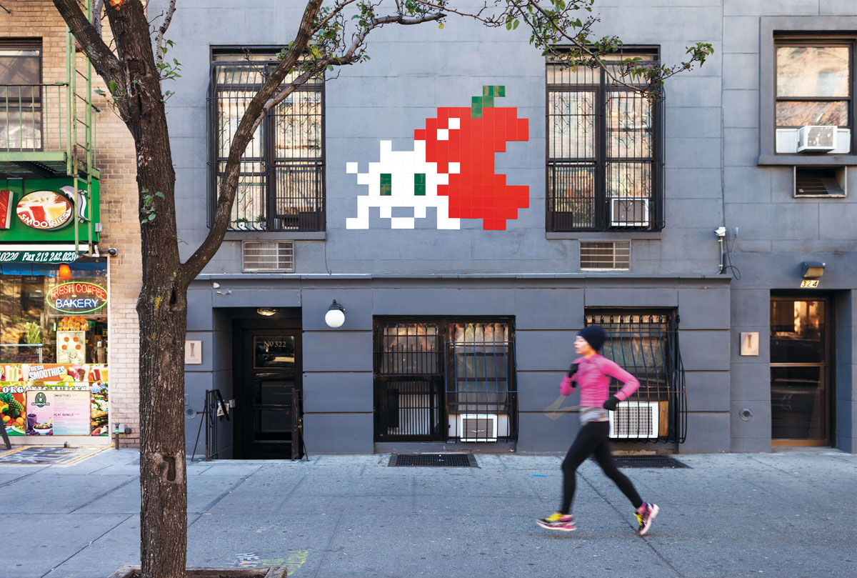 Artist: Invader (NYC_176). Photo: Invader. Location: 322 West 14th Street, New York.