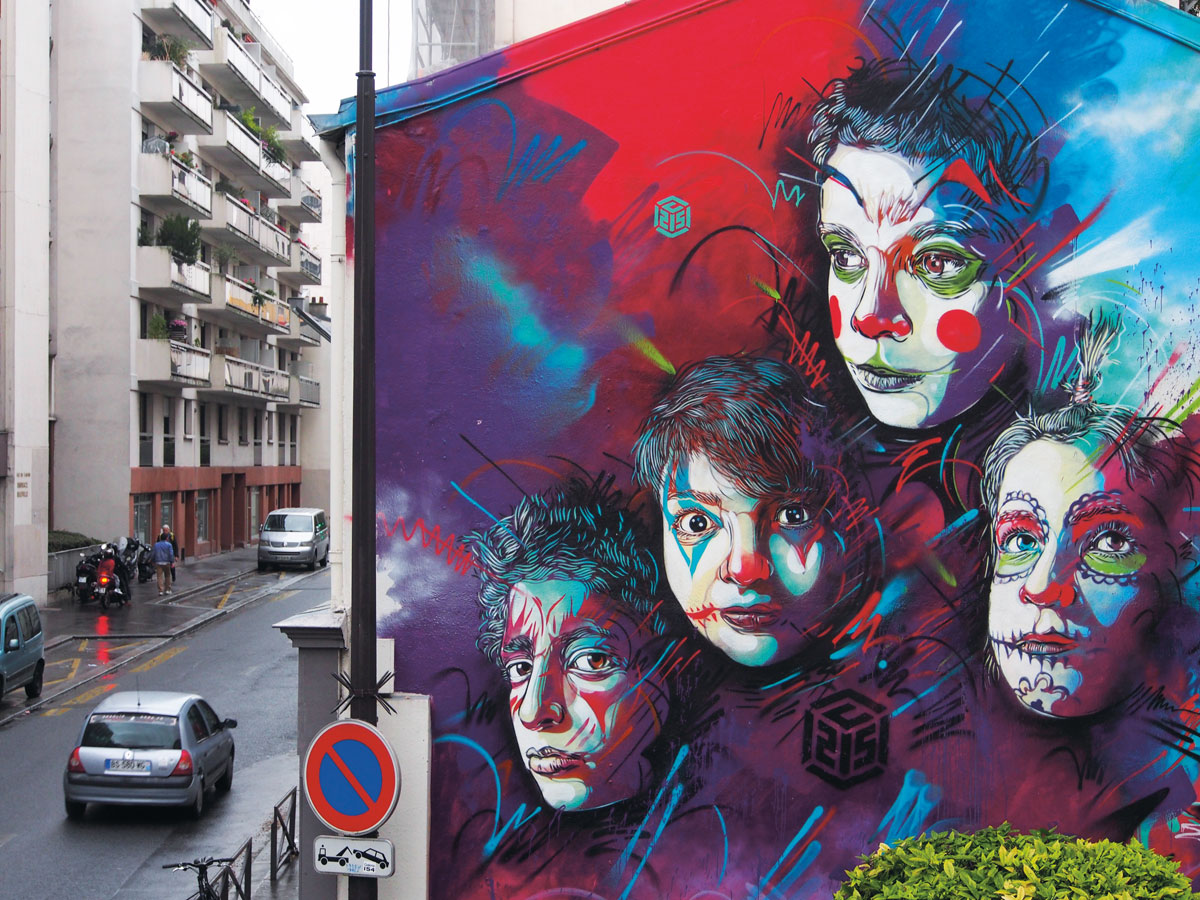 Artist: C215/Photo: C215. Location: 188 Rue Pelleport, Paris.