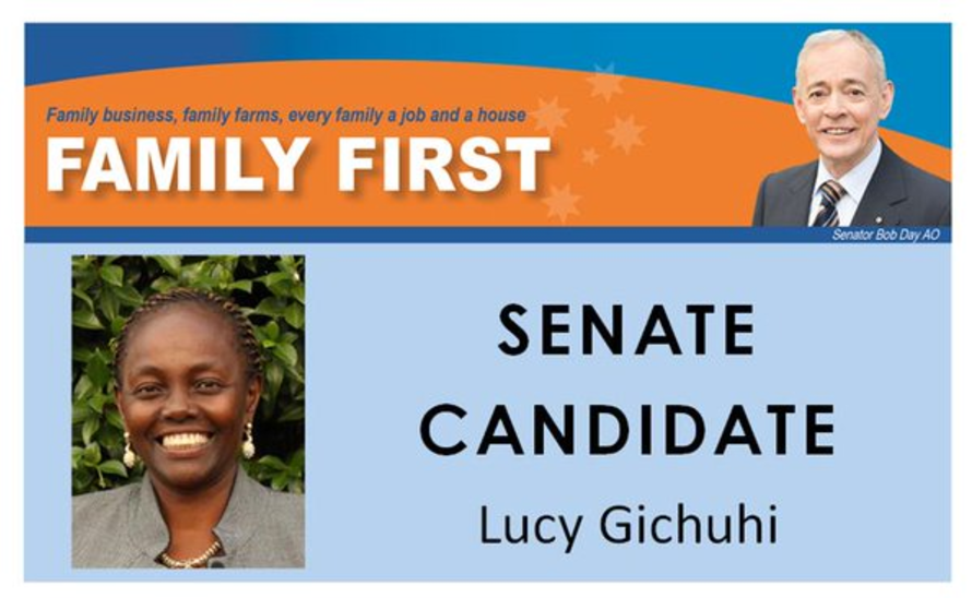 Gichuhi in her election material.