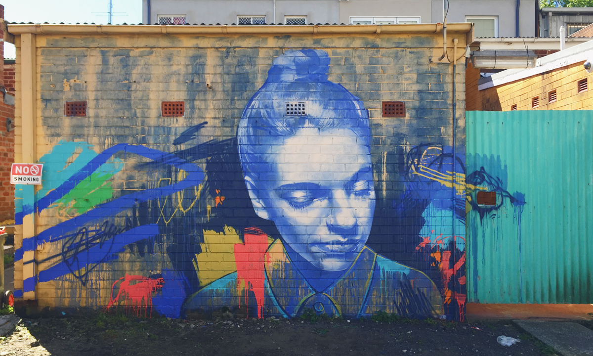 A mural by Claire Foxton of New South Wales. Follow @claire_foxton