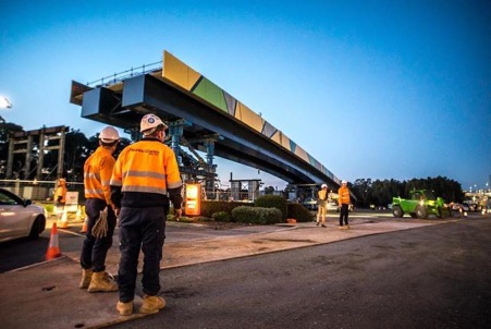 Bowhill constructed steel bridge girders for the Darlington Upgrade.