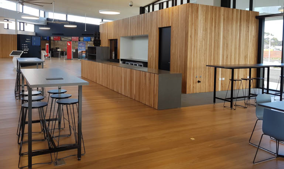 The new café complements the recently upgraded Kingscote airport.