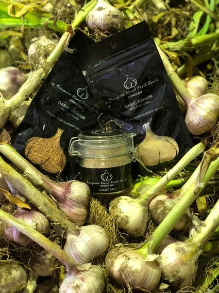 Aside from fresh bulbs, Kangaroo Island Fresh Garlic also makes garlic salt, garlic powder and garlic granules.
