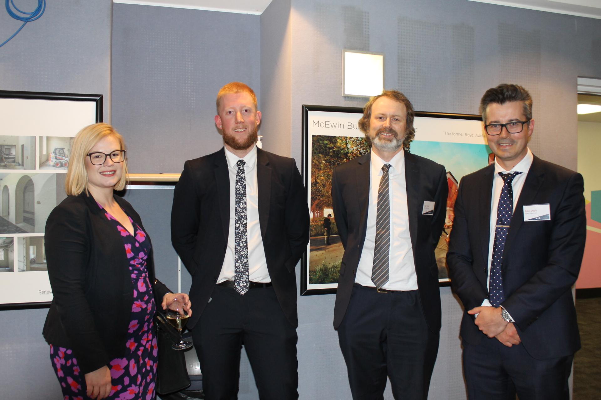 Emily Haar, Daniel Bartlett, Tim Ward and John Doyle.